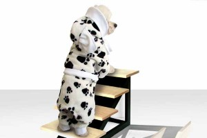 Black and white fleece pajamas for dogs